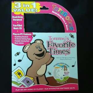 Baby Kids Tote Books ReadAlong Story & Music CD