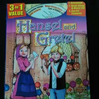 Classic Fairy Tales Hansel & Gretel Read Along Storybook Music CD