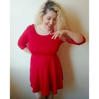 *SALE* Red Zip-up Dress