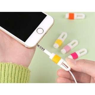 創意 耳機收納保護套 收納線纏線器集線器 十色 現貨