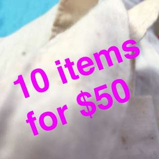10 items under $15 for $50!!!