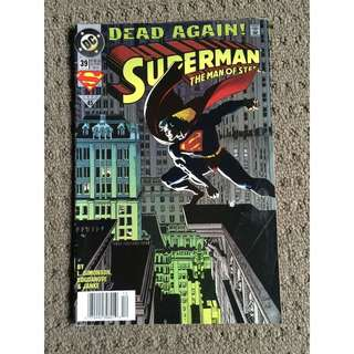 Superman The Man Of Steel Dead Again 1994 Comic