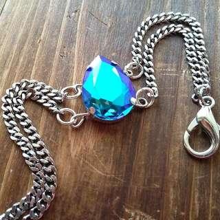 Galaxy Blue Crystal Gemstone Bracelet Crystal Charm Arm Candy