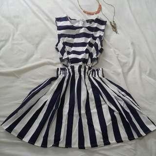 Love Ezra Blue Navy&White Dress
