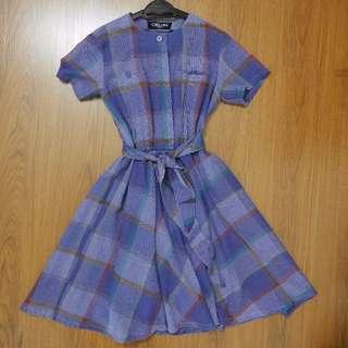 Japan Vintage Linen Flare Dress