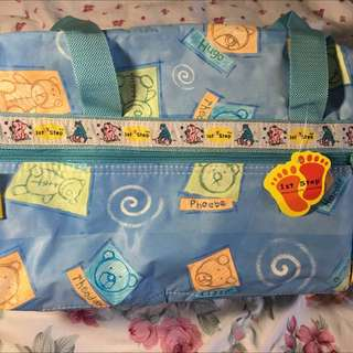 First step baby mummy traveling going out bag
