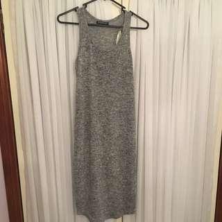 Cotton Grey Maxi Dress
