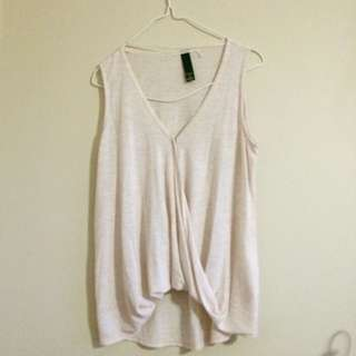 V-neck sleeveless top