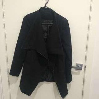 Black Winter Waterfall Jacket