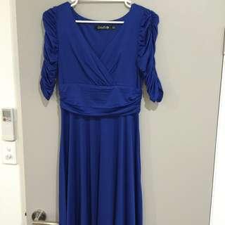 Blue A-Line dress size 10