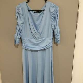 Light Blue A-Line dress sz 10