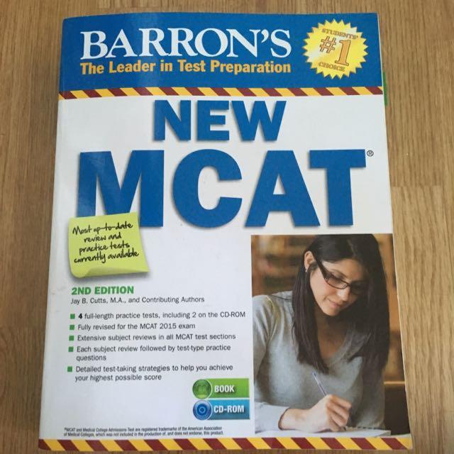 2015 Barron's MCAT prep Book