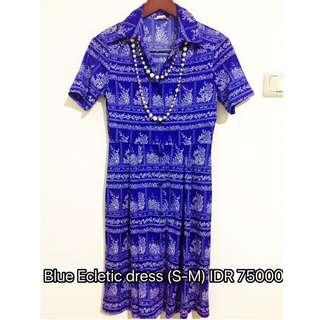 Blue ecletic Dress