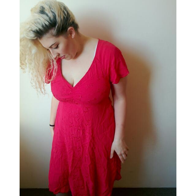 90's Vintage Pink Summer Dress