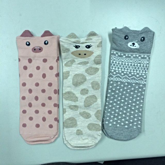 可愛動物襪