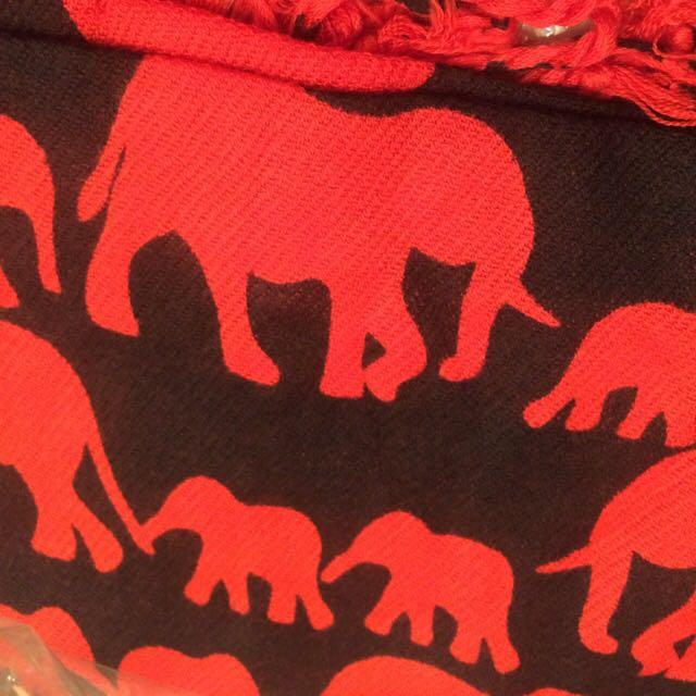 泰國大象圍巾