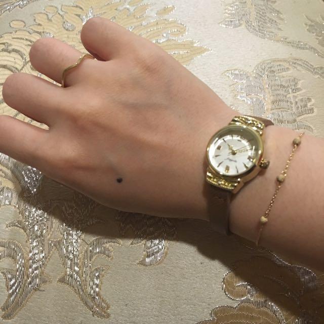 輕珠寶 美國14K包金磨砂圓珠手鍊