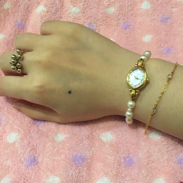 輕珠寶 美國14K包金方型鋯石手鍊