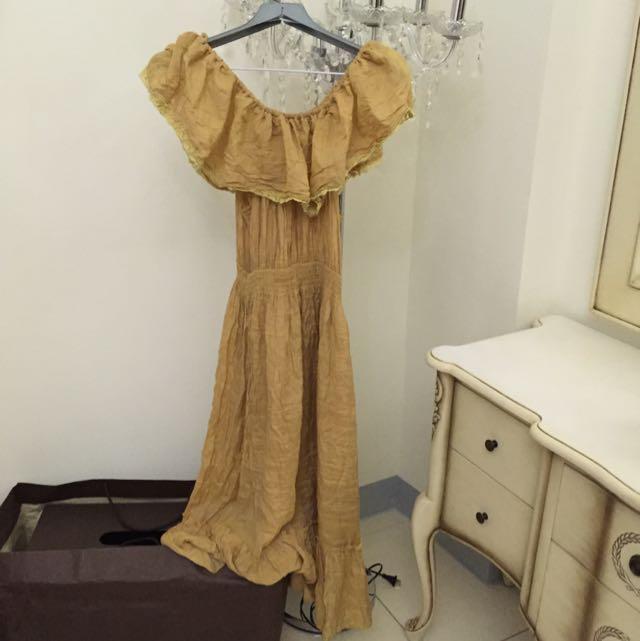 波希米亞風 長洋裝
