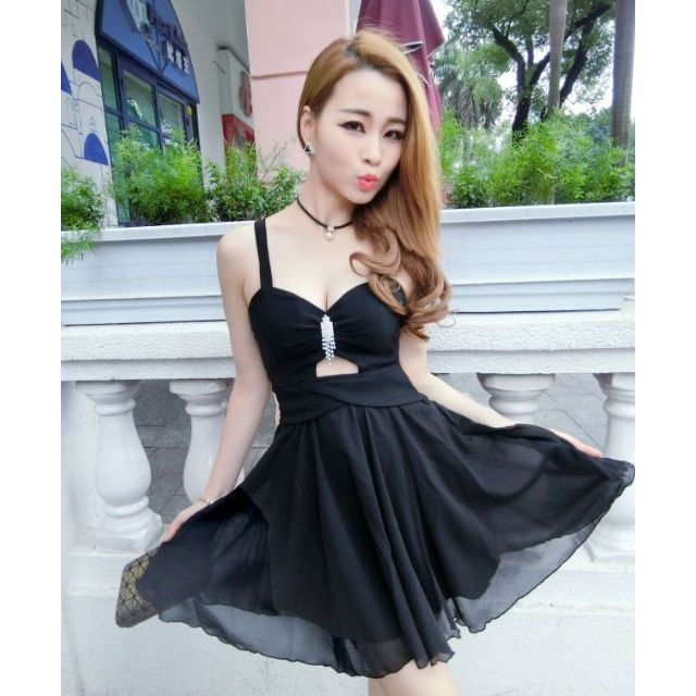 「現貨黑」性感露空 洋裝 禮服 5814