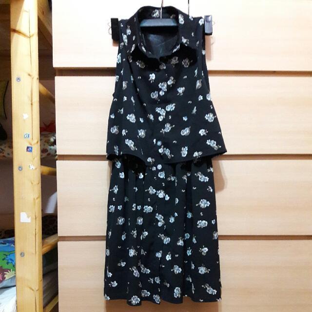 全新 立領 雪紡洋裝 含運