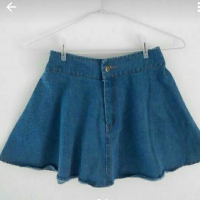 全新 PSGB 深藍 牛仔裙