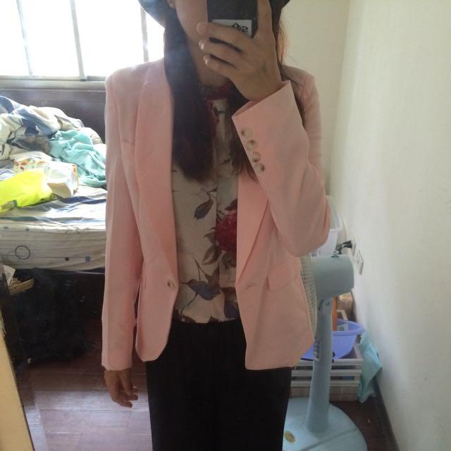 粉色西裝外套 S