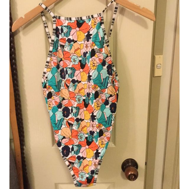 ALL ABOUT EVE REVERSIBLE ONE PIECE SWIMSUIT SIZE 8