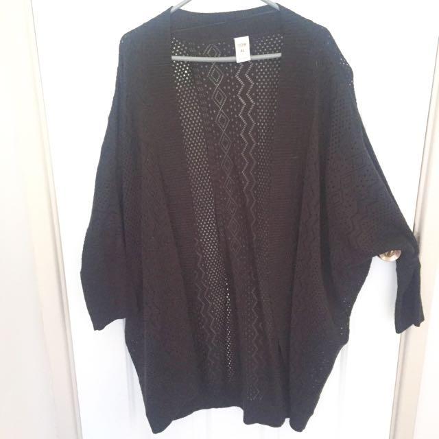 Aztec Pattern Black Cardigan