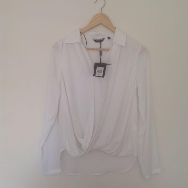 Basque Blouse Shirt Size 6