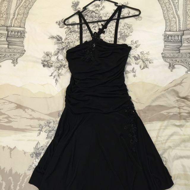 Black cocktail dress sz 10