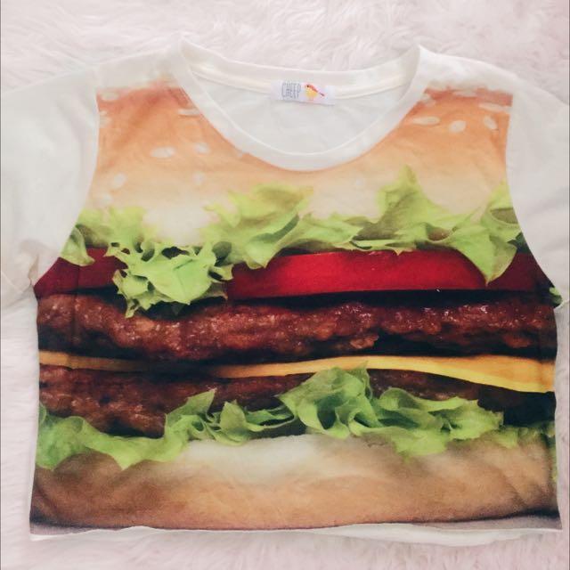Burger Crop Top