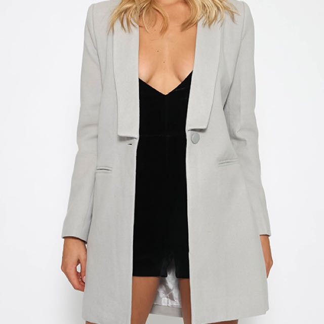 Charcoal Grey Coat (same Style Different Colour As First Pic)