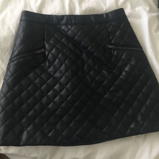Checkered Pattern Skirt
