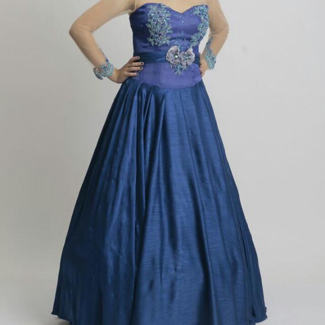 Gaun Pesta Ball Gown Navy Blue Women S Fashion Women S Clothes