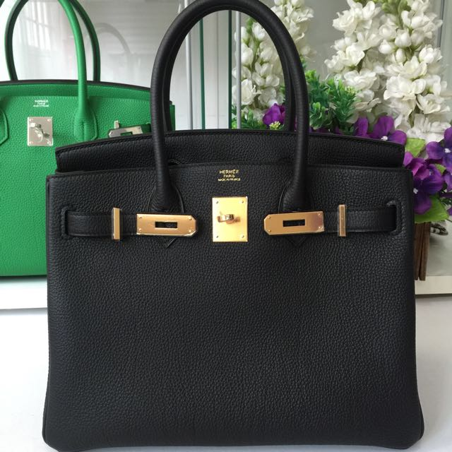 439563c4b2ea43 ... clearance hermes birkin 30 black togo gold hardware luxury on carousell  55cfb 1d11a