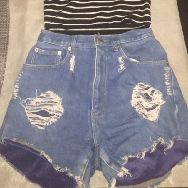 High Waisted Denim Shorts Size 8/10
