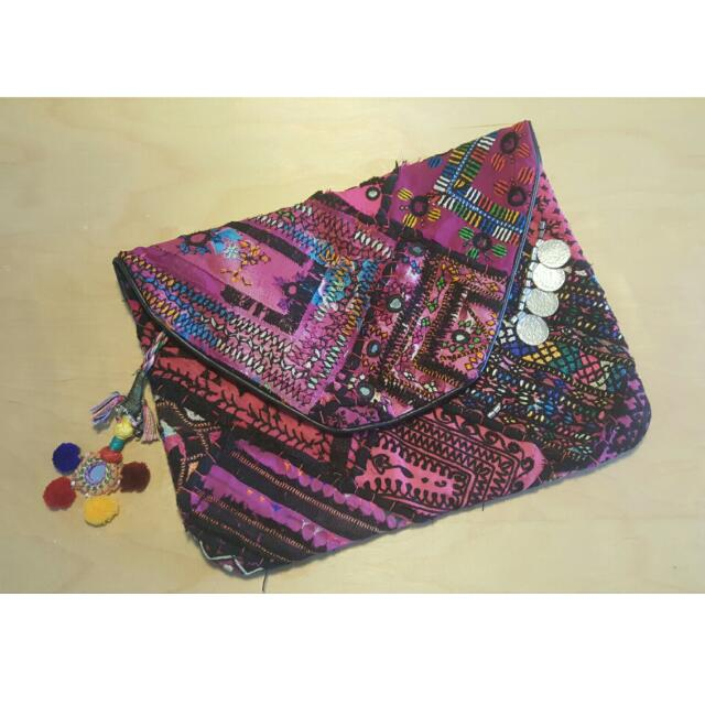 Indian Style Hand Stitched Clutch