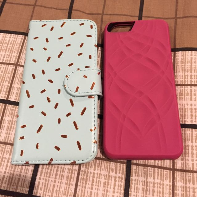 iPhone 6 Casings (Pink and Teal)