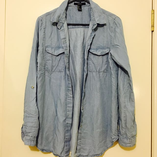 Light Blue Denim Outwear