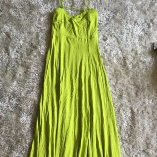Like Green Strappy Maxi Dress