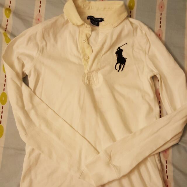 Ralph Lauren Size S White Winter Polo