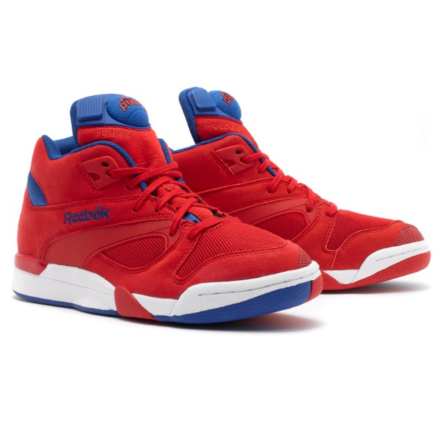 8c66d3d4f2d Reebok Court Victory Pumps Unisex   red   royal blue   white sneakers US  Size 9.5