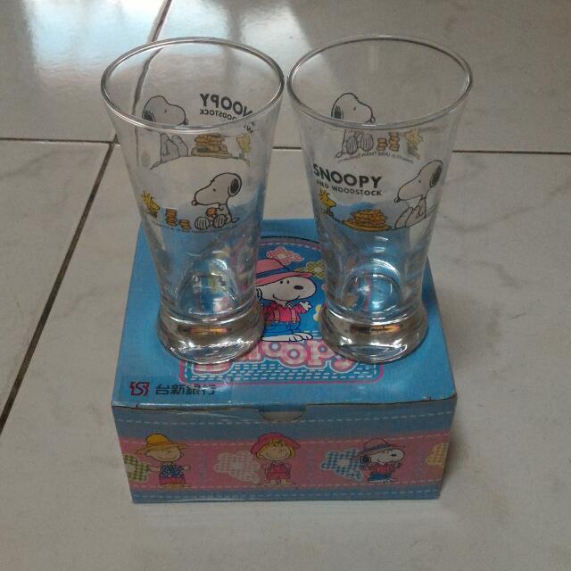 Snoopy玻璃對杯