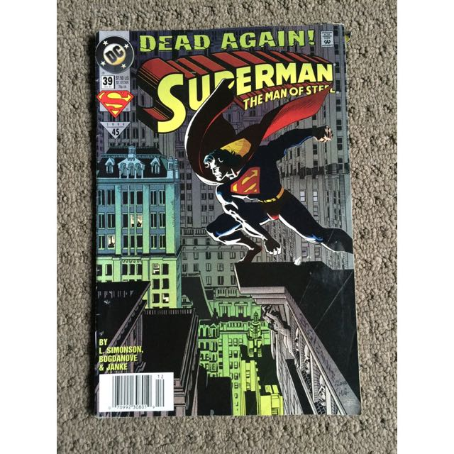 Superman The Man Of Steel Dead Again 1994 Comic