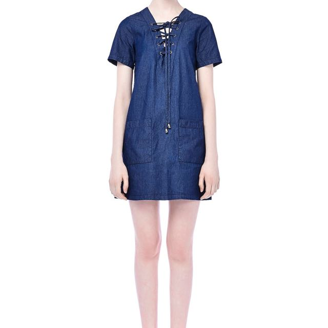 The Editor's Market Dionne Denim Dress