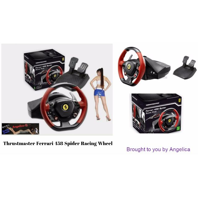 (預購中) THRUSTMASTER Ferrari 458 Spider Racing方向盤 支援XBOX ONE