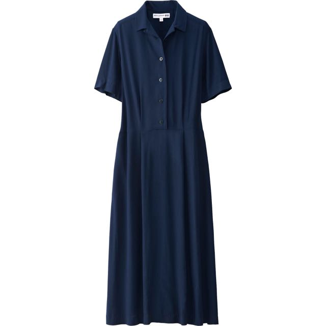 Uniqlo Ines De La Fressange 短袖深藍色長洋裝 #告別舊愛不愛就賣