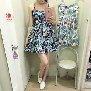 正韓 渡假風短洋裝