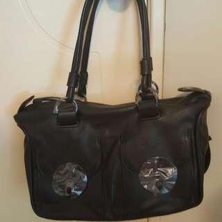 Mimco Loves Bnwt RRP$499 Matt Black Large Turnlock ZIPTOP Bag